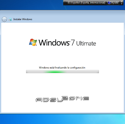 finalizando instalacion de windows